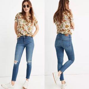 "Madewell | 9"" Skinny Crop Jeans in Delmar Wash 26"